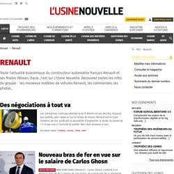 Renault : toute l'actualité économique du constructeur automobile Renault