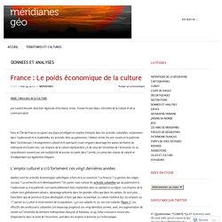 France : Le poids économique de la culture – méridianes géo