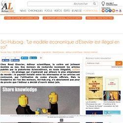 """Sci-Hub.org : """"Le modèle économique d'Elsevier est illégal en soi"""""""