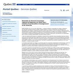 PORTAIL QUEBEC 21/06/16 Retombée du Sommet économique régional du Saguenay-Lac-Saint-Jean - Création d'une bleuetière d'enseignement et de recherche