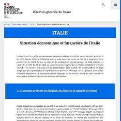 Situation économique et financière de l'Italie - ITALIE