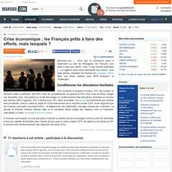 Crise économique : les Français prêts à faire des efforts, mais lesquels ?