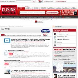 Danone – Actualité économique et industrielle de Danone