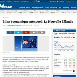 Bilan économique mensuel : La Nouvelle Zélande