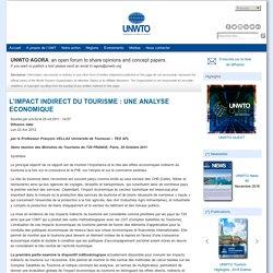 L'IMPACT INDIRECT DU TOURISME : UNE ANALYSE ECONOMIQUE