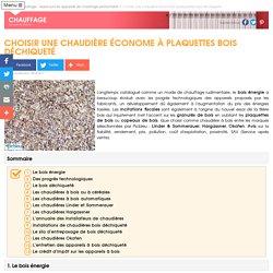 Chaudière économique à plaquettes ou à bois déchiqueté
