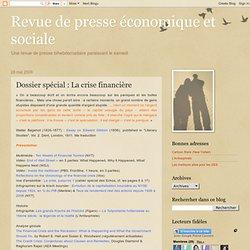 Dossier spécial : La crise financière