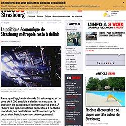 La politique économique de Strasbourg métropole reste à définir