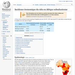Incidence économique du sida en Afrique subsaharienne