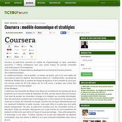 Coursera : modèle économique et stratégies