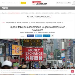 Japon: tableau économique toujours contrasté en novembre