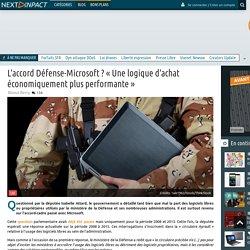 L'accord Défense-Microsoft ?«Une logique d'achat économiquement plus performante»