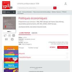 Politiques économiques - Barfety - Dalbard - Ouizille 9782275064673