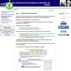 Le site des Sciences Economiques et Sociales de Créteil - Apprendre à bien argumenter