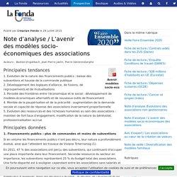 Note d'analyse / L'avenir des modèles socio-économiques des associations