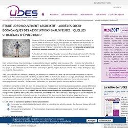 Etude UDES/Mouvement associatif - Modèles socio-économiques des associations employeuses : quelles stratégies d'évolution ?