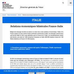Relations économiques bilatérales France-Italie - ITALIE