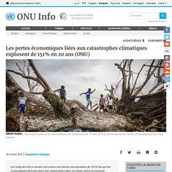 Les pertes économiques liées aux catastrophes climatiques explosent de 151% en 20 ans (ONU)