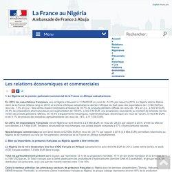 Les relations économiques et commerciales - La France au Nigéria