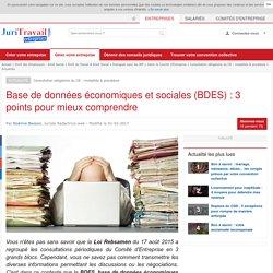 BDES : la nouvelle base de données économiques et sociales au service du dialogue social