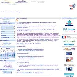 Sciences Economiques et Sociales - Académie de Grenoble - Les Epreuves du BAC - Bac - Evaluation