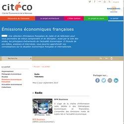Émissions économiques françaises