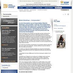 Le Prix OCIRP Acteurs Économiques & Handicap - RÉSULTATS - Tous les lauréats