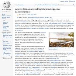 Aspects économiques et logistiques des guerres napoléoniennes