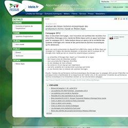 INSTITUT DE L ELEVAGE 16/10/13 Analyse des bilans technico-économiques des producteurs d'ovins viande en Rhône-Alpes