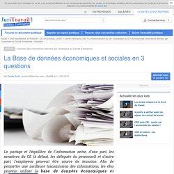 La Base de données économiques et sociales en 3 questions