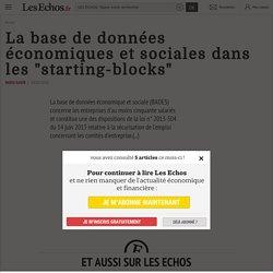 """La base de données économiques et sociales dans les """"starting-blocks"""" - Les Echos"""
