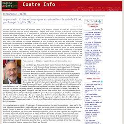 1930-2008: Crises économiques structurelles - le rôle de l'Etat, par Joseph Stiglitz (II/II)