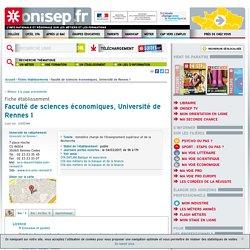 Faculté de sciences économiques, Université de Rennes 1