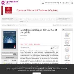 Santé, numérique et droit-s - Modèles économiques des GAFAM et vie privée - Presses de l'Université Toulouse 1 Capitole