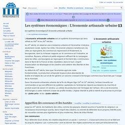 Les systèmes économiques/L'économie artisanale urbaine — Wikiversité