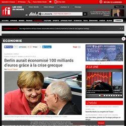 Berlin aurait économisé 100 milliards d'euros grâce à la crise grecque - Economie