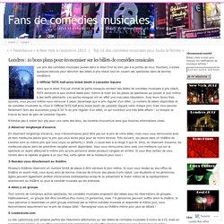 Londres : 10 bons plans pour économiser sur les billets de comédies musicales