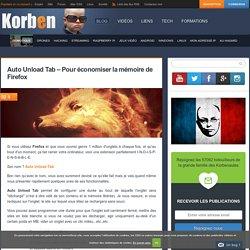 Auto Unload Tab - Pour économiser la mémoire de Firefox