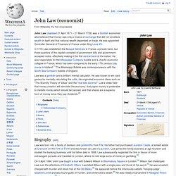 John Law (economist)