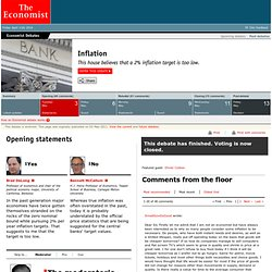 Debates: Inflation: Statements