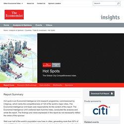 Hot Spots. The Economist s'ineteresse aux villes d'aujourd'hui et de demain