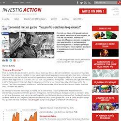 """The Economist met en garde : """"les profits sont bien trop élevés!"""""""