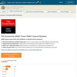 The Economist GMAT Tutor Reviews - UPDATED 2017 GMAT Course Reviews