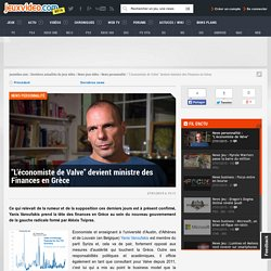 """""""L'économiste de Valve"""" devient ministre des Finances en Grèce - Actualités - jeuxvideo.com"""