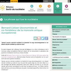 Bernard Lietaer (économiste et co-fondateur de la monnaie unique européenne)