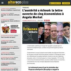 L'austérité a échoué: la lettre ouverte de cinq économistes à Angela Merkel