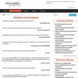 Citations d'économistes célèbres - L'économiste