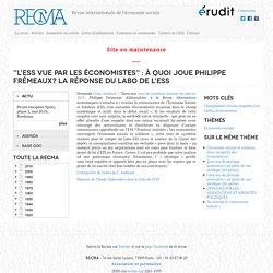"""""""L'ESS vue par les économistes"""" : à quoi joue Philippe Frémeaux? La réponse du Labo de l'ESS"""