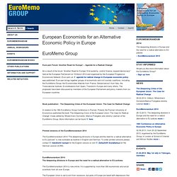 EuroMemo Group - European Economists for an Alternative Economic Policy in Europe