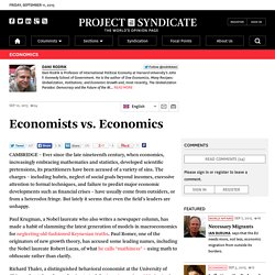 Economists vs. Economics by Dani Rodrik